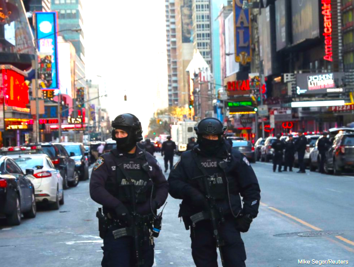 First Responder Police in NYC Photo Credit Mike Segar