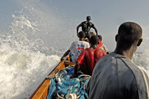 Fishing off the coast of Africa