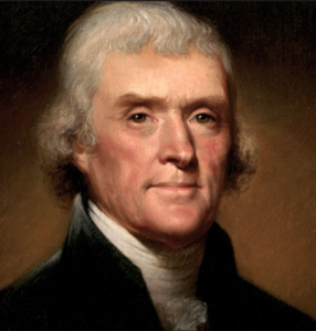 Thomas Jefferson the first to sign the Declaration of Independence.